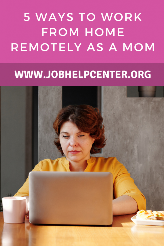 Pinterest Image: 5 Ways to Work From Home Remotely as a Mom